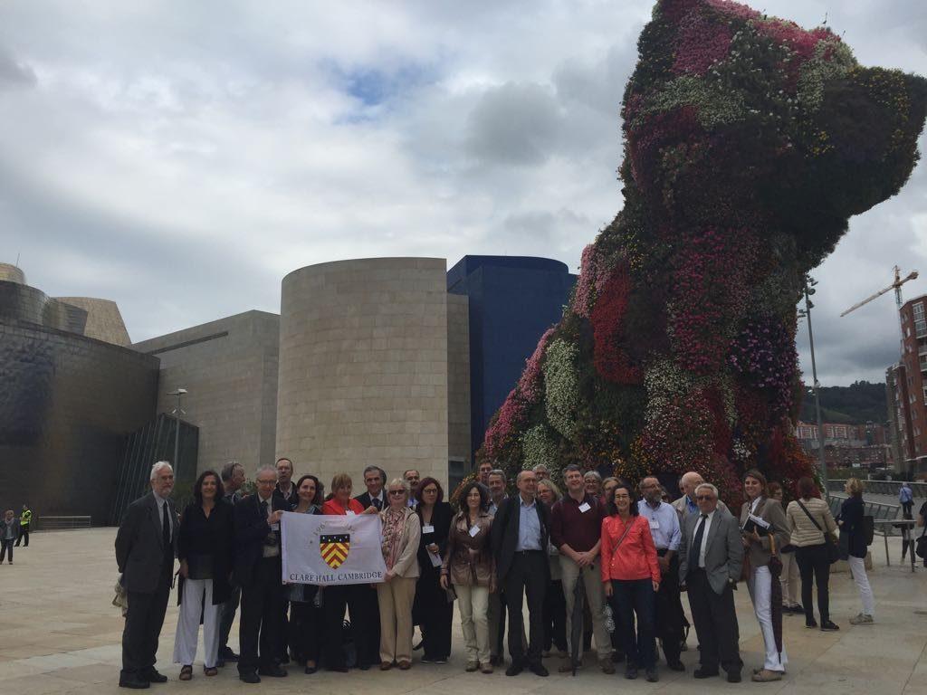 organizando la anterior visita de Clare Hall de Cambridge a Bilbao
